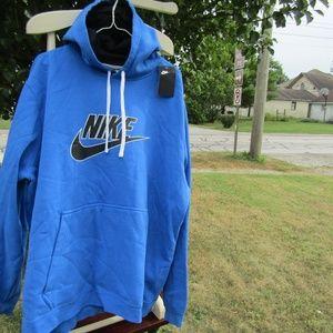 Men's Nike NWT Pullover Hoodie Dark Blue Aj6352-40